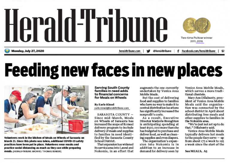 Herald-Tribune Article Preview: https://bradentonadvertisingagency.com/pandemic-deliveries-stretch-resources-at-meals-on-wheels/